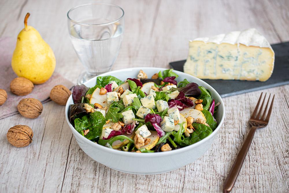 Salade bleu vercors poire